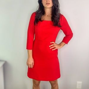 Ann Taylor Red Sheath Dress